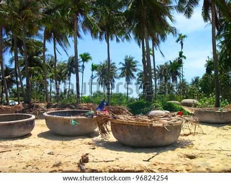 Vietnam, Mui Ne sand beach - stock photo