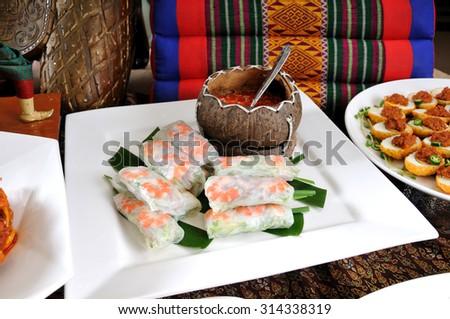 Vietnamese Style Spring Roll.Goi Cuon - Vietnamese fresh summer rolls ...