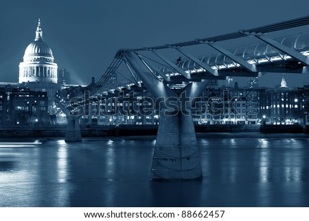 View at Millennium bridge - stock photo