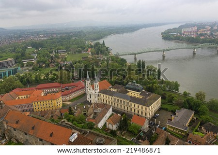 view from  Basilica in Hungary - stock photo