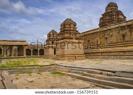 view of an lord krishna temple, Hampi, India - stock photo