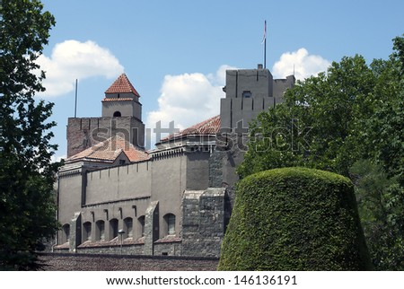 View of military Museum in fortress Kalemegdan in Belgrade, Serbia - stock photo