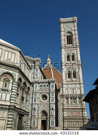 View of the Baptistery, Giotto's tower and Duomo - Florence
