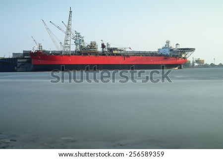view of the Shipyard - stock photo