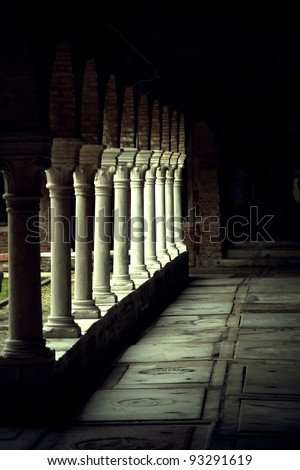 View of Venice the San Francesco della Vigna cloister - stock photo