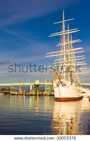 """Viking"" Ship on Sunset. November - stock photo"