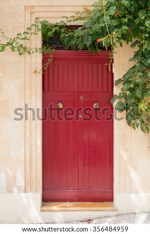 Vintage architecture and and colorful door / Doors of the world