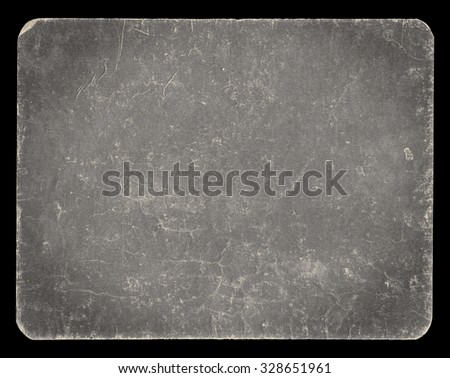 Vintage banner or background isolated on black with clipping path, rich grunge texture, antique paper mounted onto cardboard, suitable for Photoshop blending purposes, hi res. - stock photo