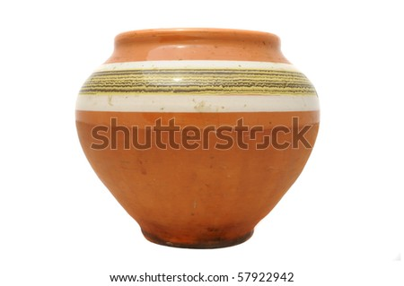 Vintage Clay Pot - stock photo