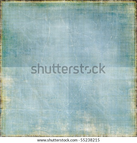 Vintage Creased Paper Background - stock photo