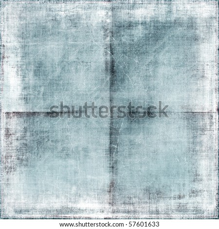 Vintage Creased White Faded Paper - stock photo