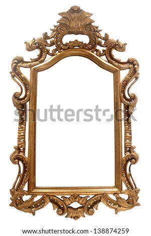 vintage frame on white background - stock photo