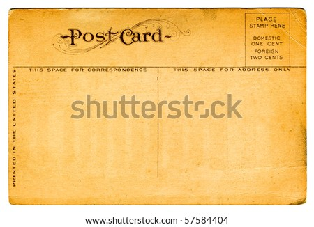 Vintage Postcard From Early 1900s - stock photo