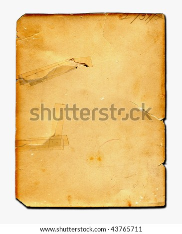 Vintage Real Paper - stock photo