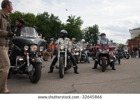 "VLADIMIR - JUNE 19: ""Harley-Davidson Club Russia""  International Rally Suzdal 2009 Event June 19, 2009 in Vladimir, Russia - stock photo"