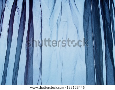 Voile curtain blue background     - stock photo