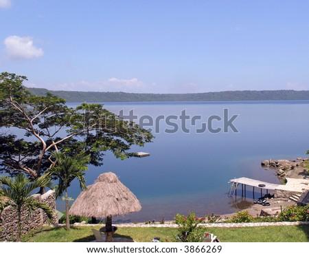 volcanic lake nicaragua - stock photo