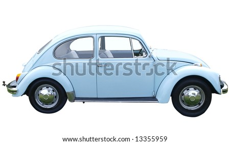 1969 Volkswagen 1500 isolated with clipping path - stock photo