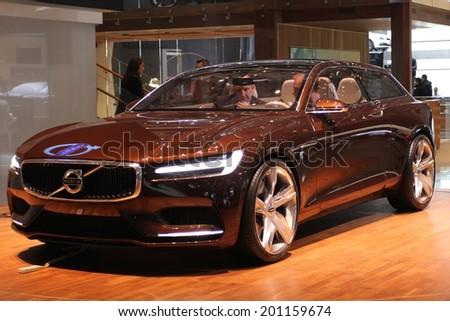 2014 Volvo Estate Concept Presented 84th Stock Photo 201159674