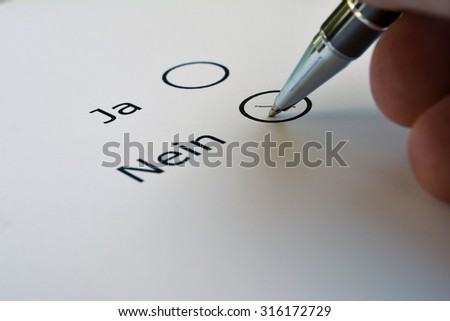 Voting for Yes or No - stock photo