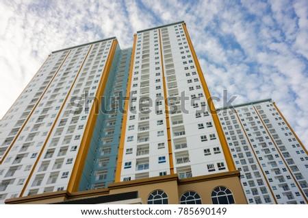 03/01/2017 - Vung Tau city, Vietnam Typical modern high apartment building architecture in vietnam