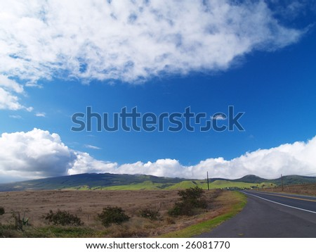 """Waimea"" and blue sky, Hawaii"
