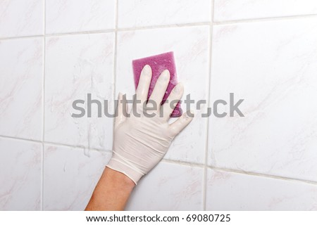 Wall cleaning. - stock photo