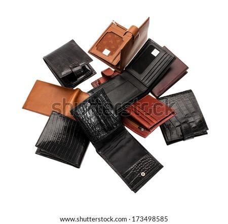 wallet man - stock photo