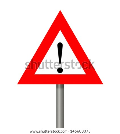 Warning sign isolated on white.