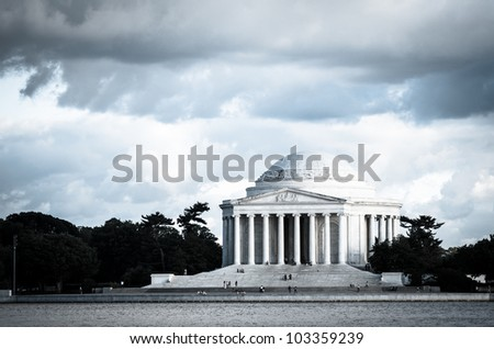 Washington DC - Thomas Jefferson Memorial  in split tones