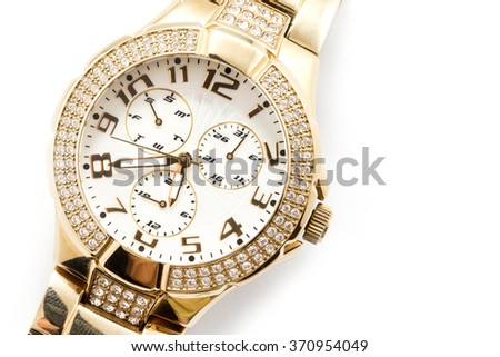 watch against white background  - stock photo