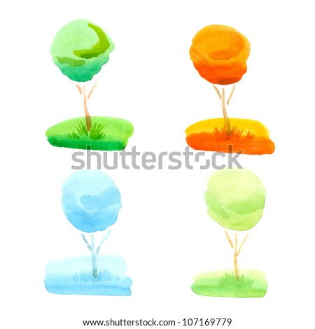 Water color - stock photo
