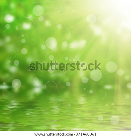water on the sun backgrounds - stock photo