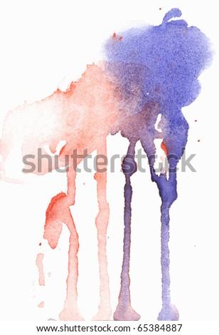 watercolor splash - stock photo