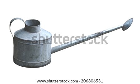 watering on white background - stock photo