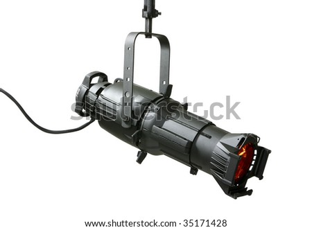750 Watt ellipsoidal lighting fixture use in theatrical and stage productions and in the motion picture industry. - stock photo