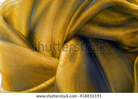 wavy organza fabric - stock photo