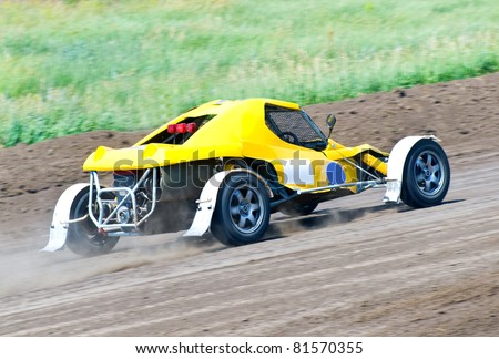 4wd buggy for extreme off-road on the track - stock photo