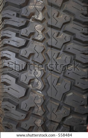 4wd Tyre Pattern - stock photo