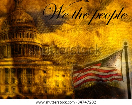 """We the people""  American patriotic abstract - stock photo"