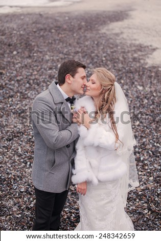 wedding on the beach in winter