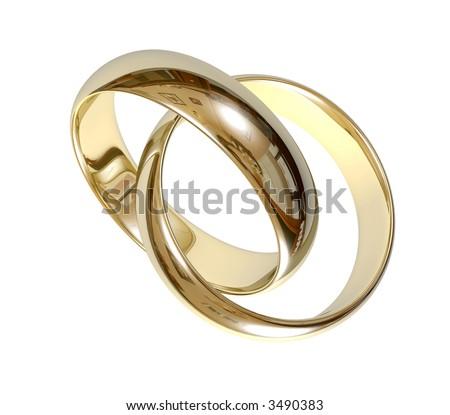 wedding ring  3D - stock photo
