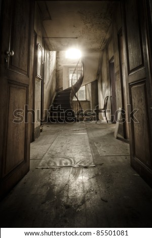 """Welcome"", this images opens the doors to another world. - stock photo"