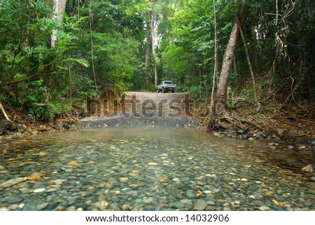 4 wheel driving in Bloomfield track - stock photo