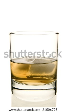 Whiskey Glasses with Ice