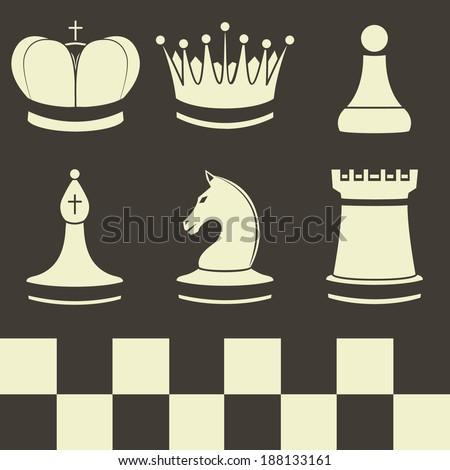 Chess Set Logo Symbol Icon Graphic Stock Vector 243399112 ...