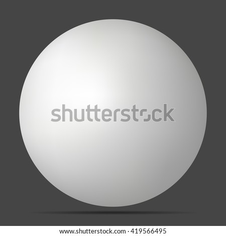 white 3D sphere with realistic shadow and light for logo, design concepts, web, presentations and prints. 3D illustration on black background. Simple Template Ball for your Mock-Up Design - stock photo