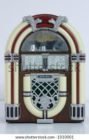 #1 White Jukebox - stock photo