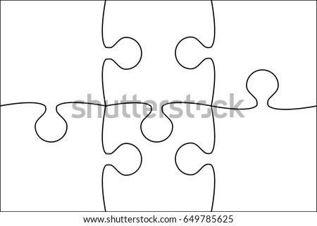 vector background made white puzzle pieces stock vector 513396778