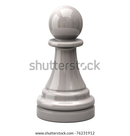 White pawn - stock photo